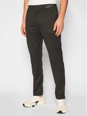 Calvin Klein Jeans Calvin Klein Jeans Kalhoty z materiálu J30J316832 Černá Regular Fit