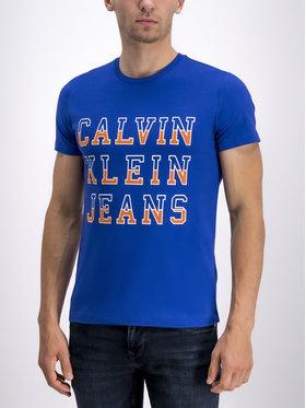 Calvin Klein Jeans Calvin Klein Jeans Marškinėliai J30J312570 Tamsiai mėlyna Regular Fit