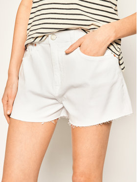 Tommy Jeans Tommy Jeans Τζιν σορτσάκια DW0DW08281 Λευκό Slim Fit