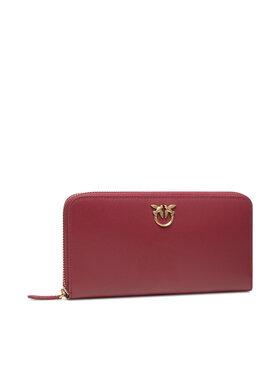 Pinko Pinko Veľká dámska peňaženka Ryder Wallet Zip Around L Simply AI 21-22 PLTT 1P22GW Y6XT Bordová