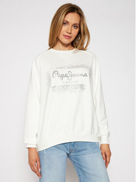 Pepe Jeans Pepe Jeans Mikina Andrea PL581070 Bílá Relaxed Fit