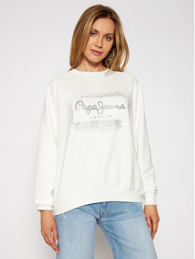 Pepe Jeans Pepe Jeans Суитшърт Andrea PL581070 Бял Relaxed Fit