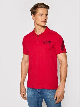 EA7 Emporio Armani EA7 Emporio Armani Тениска с яка и копчета 3KPF21 PJ02Z 1450 Червен Regular Fit