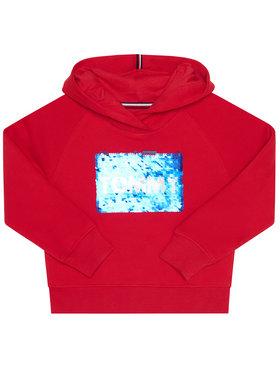 TOMMY HILFIGER TOMMY HILFIGER Bluză Flag Flip Sequins KG0KG05219 M Roșu Regular Fit
