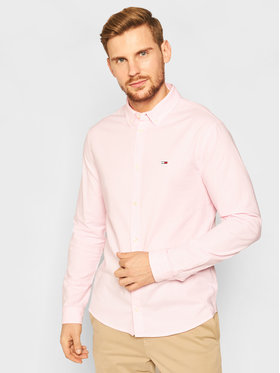 Tommy Jeans Tommy Jeans Ing Stretch Oxford DM0DM09420 Rózsaszín Slim Fit
