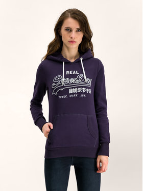 Superdry Superdry Bluza Logo Emb Outline Entry W2000054A Granatowy Regular Fit