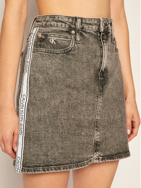 Calvin Klein Jeans Calvin Klein Jeans Fustă de blugi Logo J20J215121 Gri Slim Fit