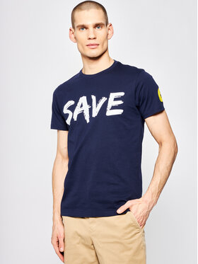 Save The Duck Save The Duck T-shirt DT401M JESYX Bleu marine Regular Fit