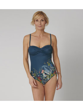Triumph Triumph Maillot de bain femme Botanical Leaf 10207931 Bleu marine