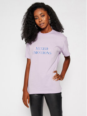 Local Heroes Local Heroes T-shirt Mixed Emotions AW2021T0019 Violet Regular Fit