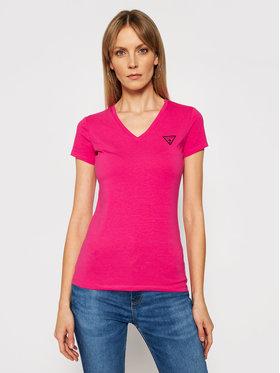 Guess Guess T-shirt Mini Triangle W1GI17 J1311 Rose Slim Fit