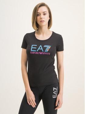 EA7 Emporio Armani EA7 Emporio Armani T-Shirt 3HTT31 TJ12Z 1200 Schwarz Slim Fit