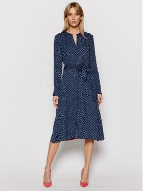 Tommy Hilfiger Tommy Hilfiger Marškinių tipo suknelė Vis Crepe WW0WW29551 Tamsiai mėlyna Regular Fit