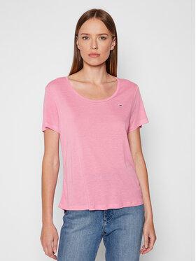 Tommy Jeans Tommy Jeans T-Shirt DW0DW09789 Růžová Regular Fit