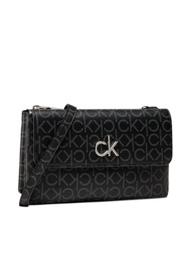 Calvin Klein Calvin Klein Kabelka Ew Dbl Comp Xbody W/Flap Mono K60K608320 Čierna