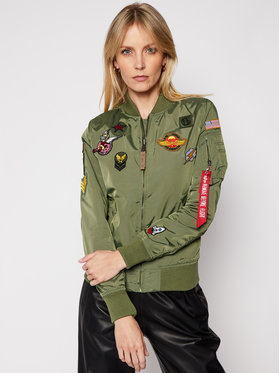 Alpha Industries Alpha Industries Bunda bomber Patch II Wmn 178013 Zelená Regular Fit