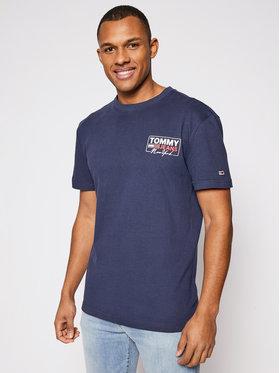 Tommy Jeans Tommy Jeans T-shirt Ny Script Box Back Logo DM0DM10216 Blu scuro Regular Fit