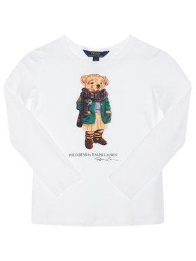 Polo Ralph Lauren Polo Ralph Lauren Блуза Bear Tee 313809578001 Бял Regular Fit