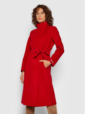 Marella Marella Vilnonis paltas Raduno 30160218 Raudona Regular Fit