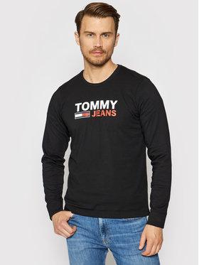 Tommy Jeans Tommy Jeans Majica dugih rukava Corp Logo Tee DM0DM09487 Crna Regular Fit