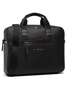 Tommy Hilfiger Tommy Hilfiger Taška na laptop Essential Pu Computer Bag AM0AM07240 Čierna