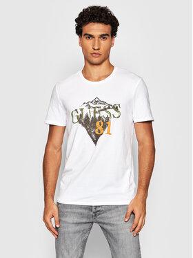 Guess Guess T-Shirt M1BI28 J1311 Bílá Slim Fit