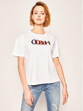 Hugo Hugo T-shirt Deresea 50422739 Blanc Regular Fit