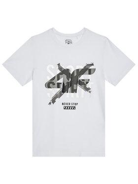 4F 4F T-Shirt HJL21-JTSM007 Biały Regular Fit