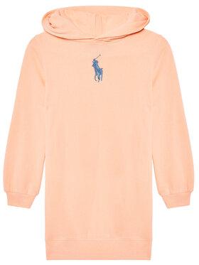 Polo Ralph Lauren Polo Ralph Lauren Sukienka codzienna Hood Flc Drs 313837221003 Różowy Regular Fit