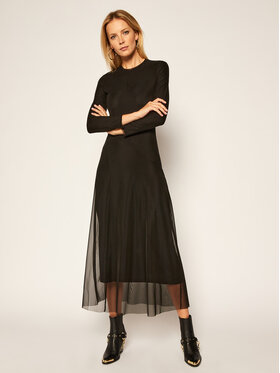 Calvin Klein Jeans Calvin Klein Jeans Každodenní šaty J20J214877 Černá Regular Fit