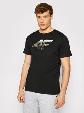 4F 4F Marškinėliai H4L21-TSM024 Juoda Regular Fit