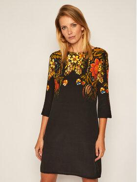 Desigual Desigual Každodenné šaty Butter Flower 20WWVW82 Čierna Regular Fit