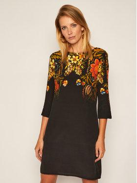 Desigual Desigual Každodenní šaty Butter Flower 20WWVW82 Černá Regular Fit