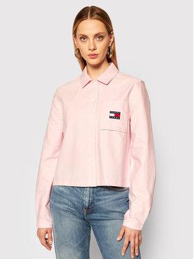 Tommy Jeans Tommy Jeans Hemd Tjw Badge Pocket DW0DW08918 Rosa Loose Fit