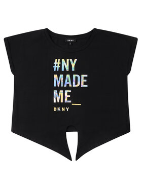 DKNY DKNY T-Shirt D35Q49 D Czarny Regular Fit