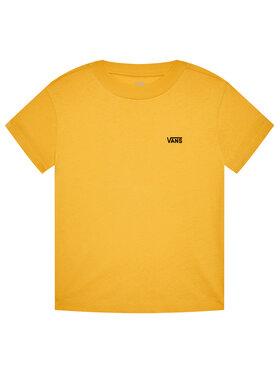 Vans Vans T-shirt Junior V Boxy VN0A4MFL Žuta Regular Fit