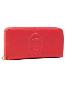 Trussardi Trussardi Veliki ženski novčanik Pre Iris Zip Around 75W00286 Crvena