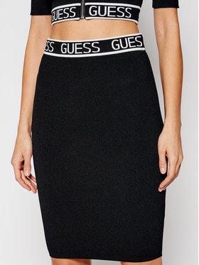Guess Guess Spódnica ołówkowa Logo Tape W0RR48 R2GK2 Czarny Slim Fit