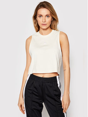 adidas adidas Top Cropped Tank GN2845 Beige Regular Fit