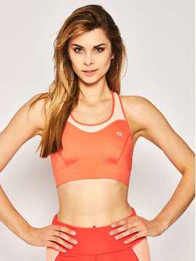 Calvin Klein Performance Calvin Klein Performance Podprsenkový top High Support Sports Bra 00GWS0K124 Oranžová