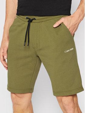 Calvin Klein Calvin Klein Szorty sportowe Logo K10K107142 Zielony Regular Fit
