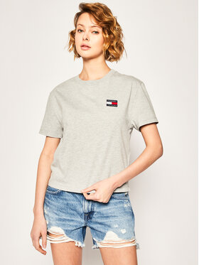 Tommy Jeans Tommy Jeans Tricou Badge Tee DW0DW06813 Gri Regular Fit