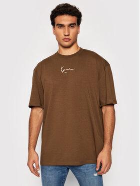 Karl Kani Karl Kani T-Shirt Small Signature 6030940 Hnědá Regular Fit
