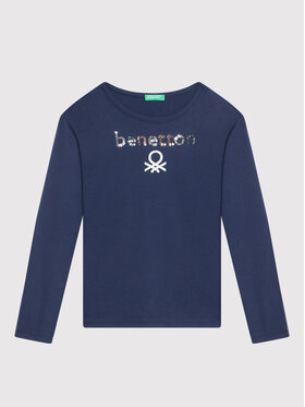 United Colors Of Benetton United Colors Of Benetton Μπλουζάκι 3EG9C15FY Σκούρο μπλε Regular Fit
