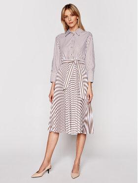 Marella Marella Marškinių tipo suknelė Praga 32210114 Balta Regular Fit