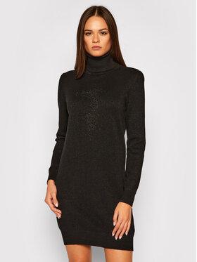 Trussardi Trussardi Úpletové šaty Logo 56D00400 Černá Regular Fit