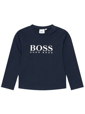 Boss Boss Bluzka J05P10 M Granatowy Regular Fit