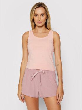 4F 4F Marškinėliai NOSH4-TSD003 Rožinė Slim Fit