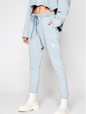 One Teaspoon One Teaspoon Teplákové kalhoty Jersey 23937 Modrá Relaxed Fit