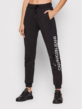 Calvin Klein Jeans Calvin Klein Jeans Teplákové nohavice J20J21658 Čierna Regular Fit